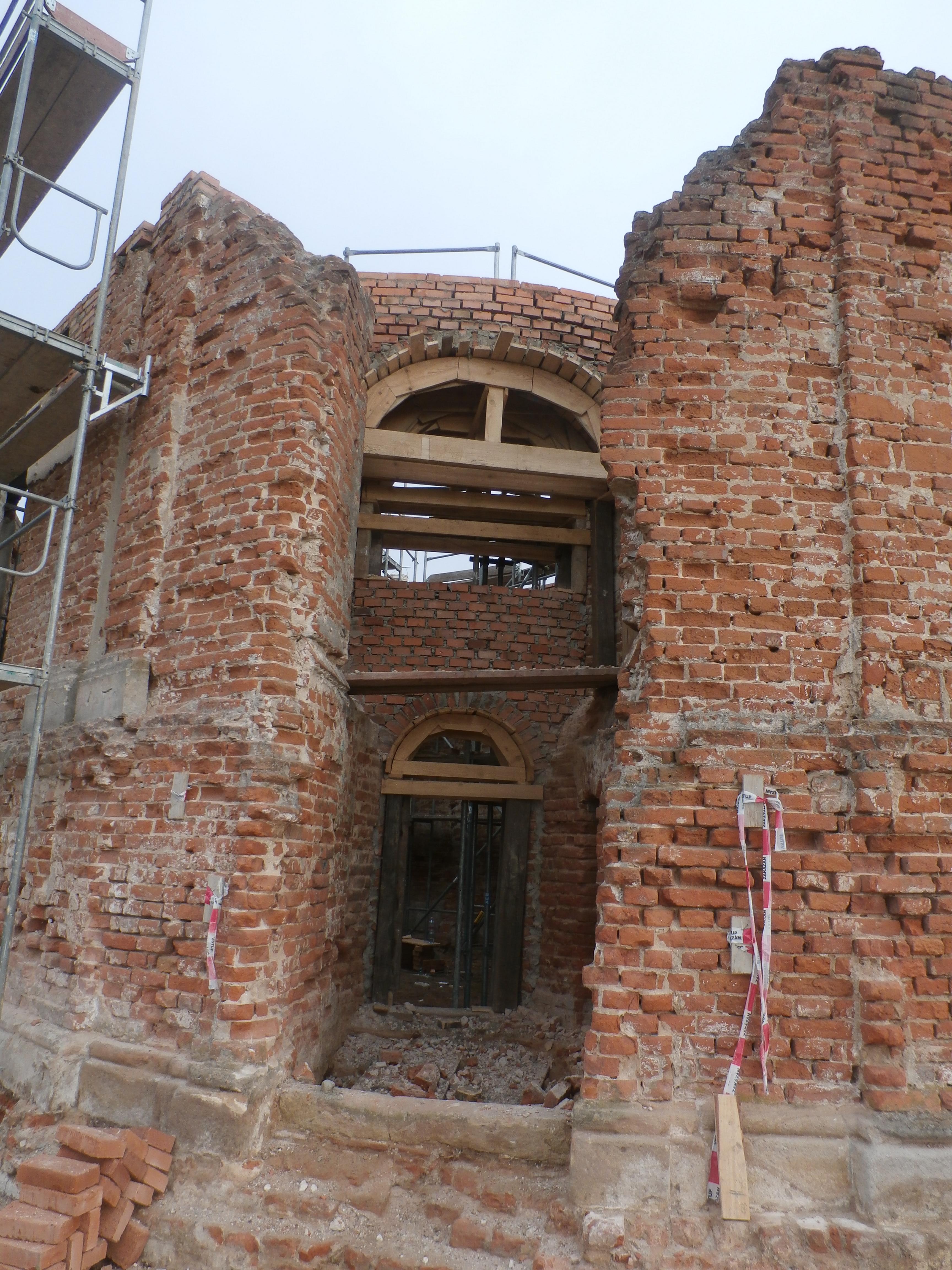 foto z obnovy kaple