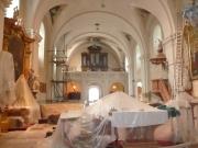 oprava elektroinstalace kostela v roce 2009