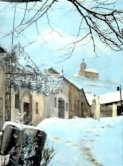 kaple v zimě - rok 1942