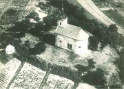 letecký snímek kaple z roku 1937